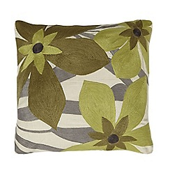 Home Collection - Lime floral print cushion