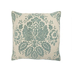 Home Collection - Pale blue floral print cushion