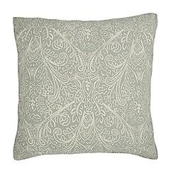 Home Collection - Pale blue leaf print cushion
