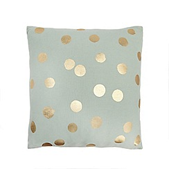 Home Collection - 'Cosmo' Light turquoise polka dot print cushion