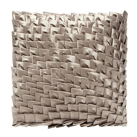Debenhams - Natural textured front taffeta cushion