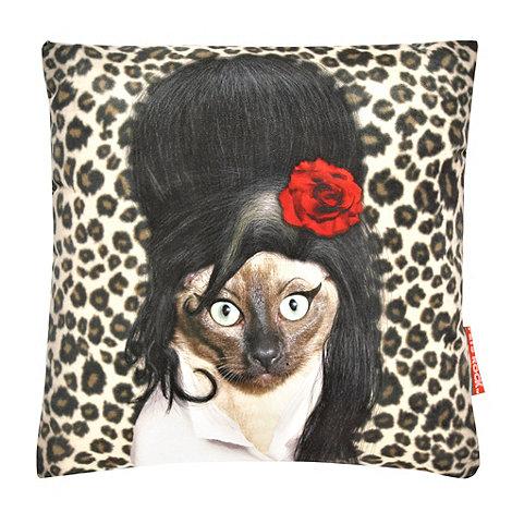 We Love Cushions - Cream +Pets Rock Tattoo+ print cushion