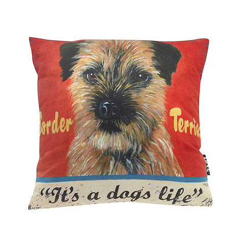 We Love Cushions - Border terrier cushion by martin wiscombe