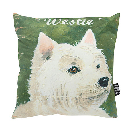 We Love Cushions - West island terrier cushion 48x48cm by martin wiscombe