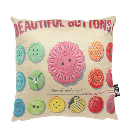 We Love Cushions - Buttons cushion by martin wiscombe