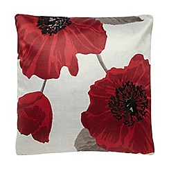 Home Collection - Red 43x43cm poppy cushion