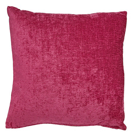 Debenhams - Pink large chenille cushion