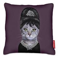 Pets rock breakfast cat cushion