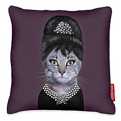 We Love Cushions - Pets rock breakfast cat cushion