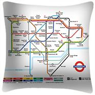 We Love Cushions' Tube Map Zone One 48 x 48cm