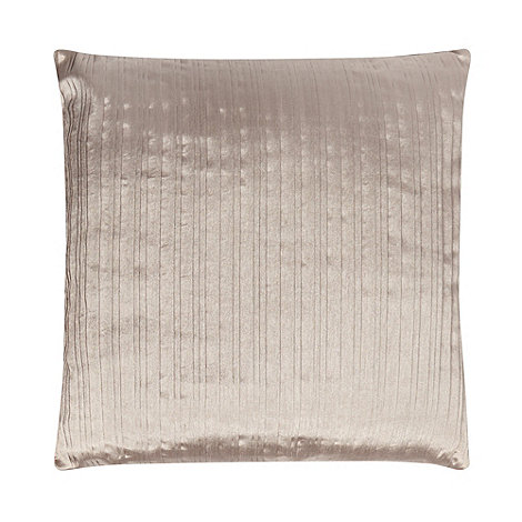 Debenhams - Taupe pleat satin cushion