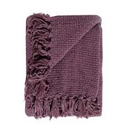 Purple chunky chenille throw