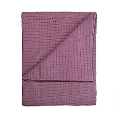 Home Collection - Mauve ribbed cotton throw
