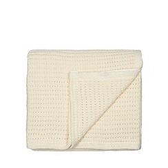 Home Collection - Cream ribbed cotton throw