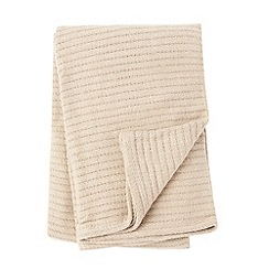 Home Collection - Natural ribbed cotton throw