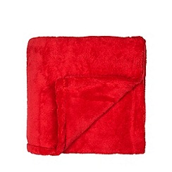 Home Collection Basics - Red fleece throw