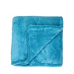 Home Collection Basics - Aqua fleece throw