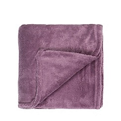 Home Collection Basics - Mauve fleece throw