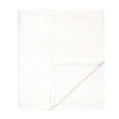 Home Collection Basics - Cream fleece throw