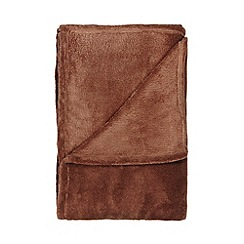 Home Collection Basics - Natural fleece throw