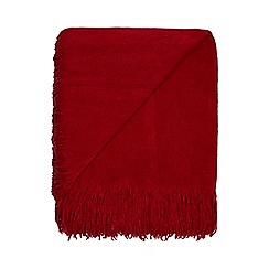 Home Collection - Red super soft tassel throw
