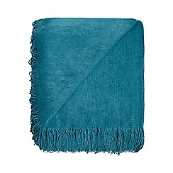 Home Collection - Turquoise super soft tasseled throw