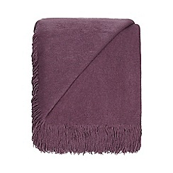Home Collection - Mauve super soft tasseled throw