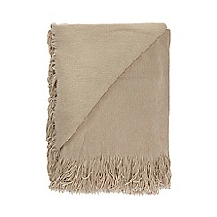 Home Collection - Natural super soft tassel throw