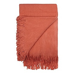 Debenhams - Coral tassel throw
