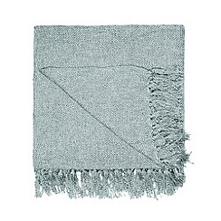 Home Collection - Aqua luxury textured throw