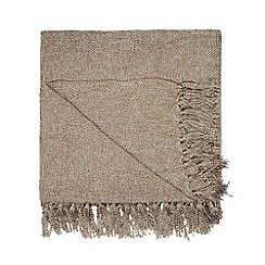 Home Collection - Light brown luxury textured throw