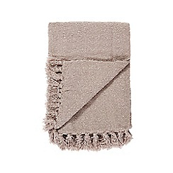 Debenhams - Grey fringed eges throw