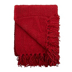 Home Collection - Red chunky chenille throw
