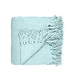 Home Collection - Aqua chunky chenille throw