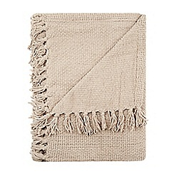Home Collection - Taupe chunky chenille throw