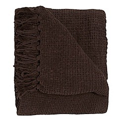 Home Collection - Chocolate chunky chenille throw