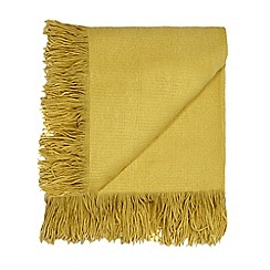 Home Collection - Yellow fringed throw