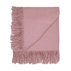 Home Collection - Lilac fringed throw