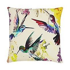 Home Collection - White watercolour bird cushion