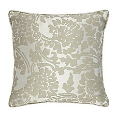 Home Collection - Silver textured patterned cushion with linen and silk
