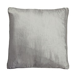 Home Collection - 50 x 50cm silver velvet cushion
