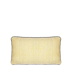 Home Collection - Mustard woven zig zag cushion