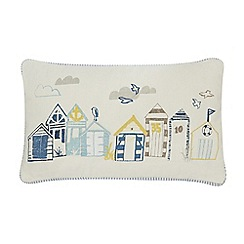 Home Collection - Multi-coloured beach hut cushion