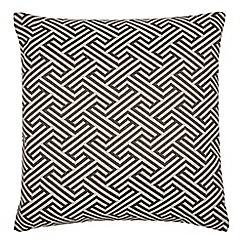 Home Collection - Grey zig zag print cushion