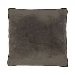 Home Collection - 50 x 50 cm grey velvet cushion