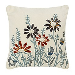 Home Collection - Multi-coloured floral embroidered cushion