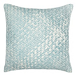 Home Collection - Light blue textured cushion