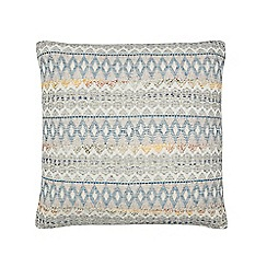 Home Collection - Multi-coloured woven geometric print cushion
