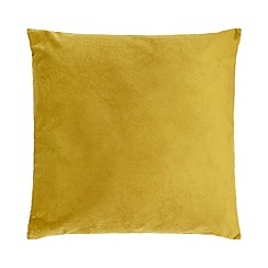 Home Collection - 60 x 60cm mustard velvet cushion