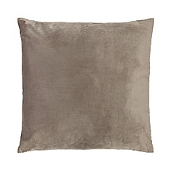 Home Collection - 60 x 60 cm grey velvet cushion